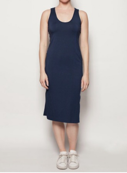 Maddie Tank Dress - Navy, Amour Vert - Gingerly Witty