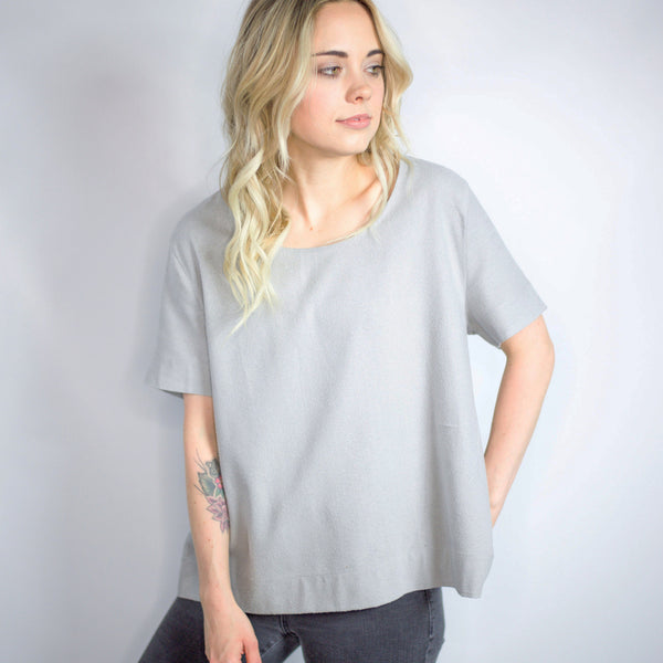The Staple Basic Tee - Mist, Jamie + The Jones - Gingerly Witty