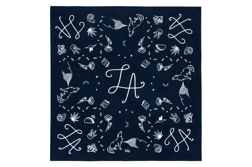 Symbols of LA Bandana - Indigo; Yeah Right Press; Gingerly Witty