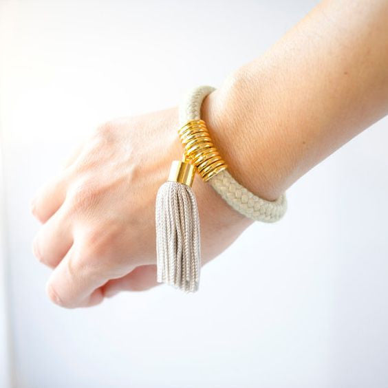Cord Tassel Bracelet, Reason to be Pretty - Gingerly Witty