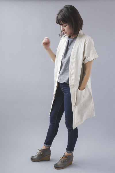 Marietta Jacket - Khaki, Temperate - Gingerly Witty