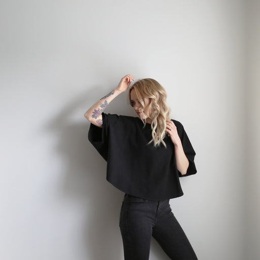 Blank Canvas Top - Black, Jamie + The Jones - Gingerly Witty