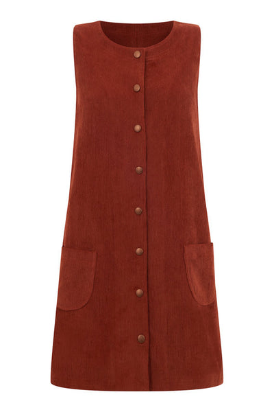 Twiggy Pinafore Dress, Mod Dolly - Gingerly Witty