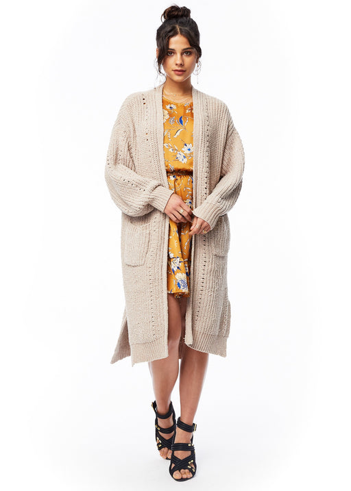 *PRE-ORDER* Over the Moon Cardigan - Tan, Lost + Wander - Gingerly Witty