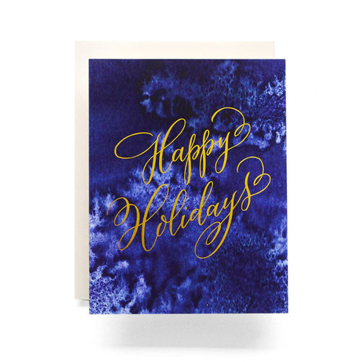 Indigo Happy Holidays Greeting Card, Antiquaria - Gingerly Witty
