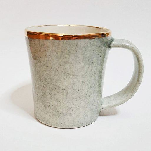 Dew Collection Mug - Grey on White (Sand); Apricity Ceramics; Gingerly Witty