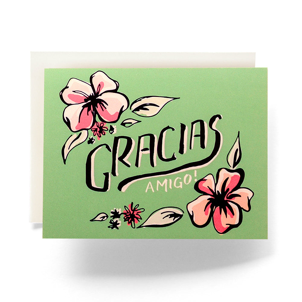 Tropical Gracias Greeting Card; Antiquaria; Gingerly Witty