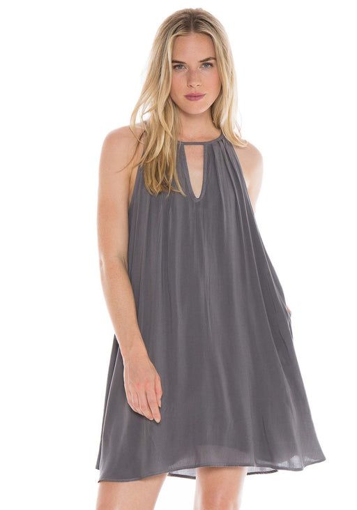 Night Shade Halter Dress, Bella Dahl - Gingerly Witty