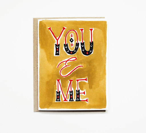 You & Me Card Gingerly Witty