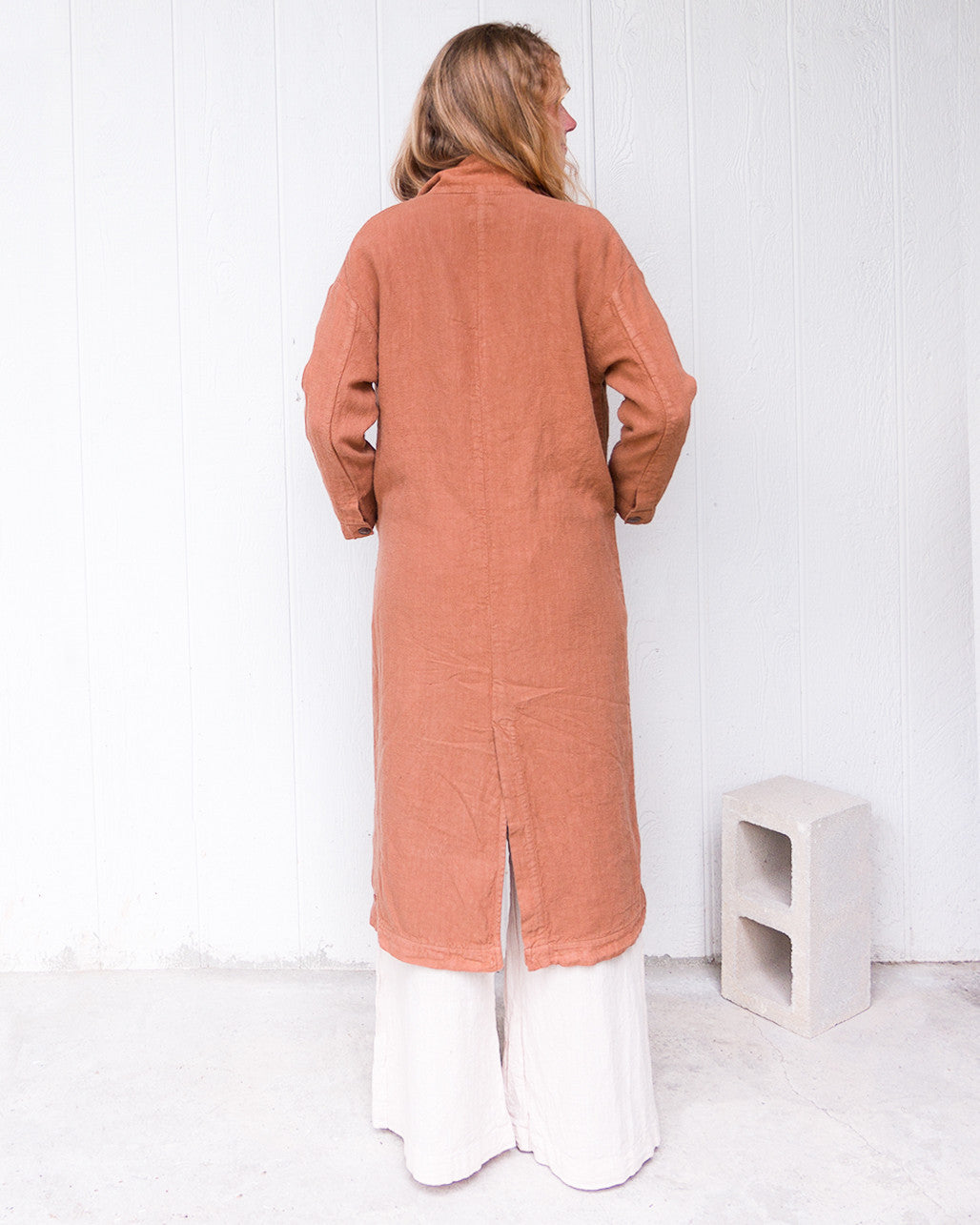Baronne Linen Duster, Esby - Gingerly Witty