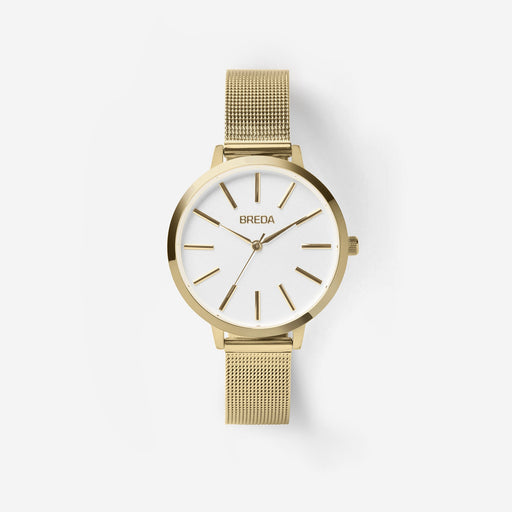 Joule Stainless Steel Mesh Band Watch - Gold