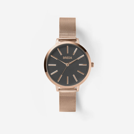 Joule Stainless Steel Mesh Band Watch - Rose Gold/Gray