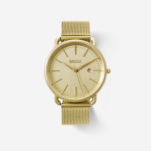 Linx Oversized Mesh Band Watch - Gold