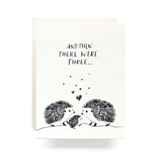 Baby Hedgehog Greeting Card, Antiquaria - Gingerly Witty