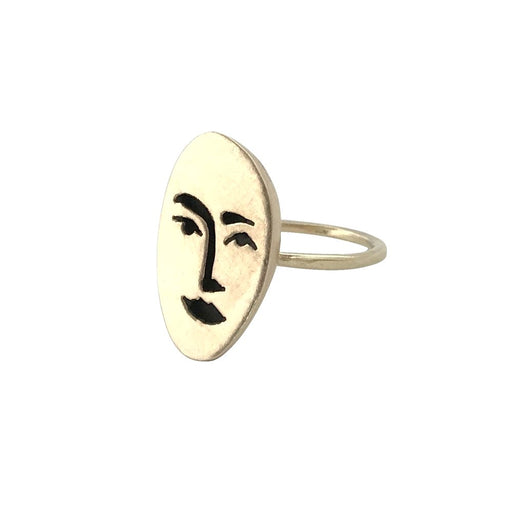Face Ring - Brass, Therese Kuempel - Gingerly Witty
