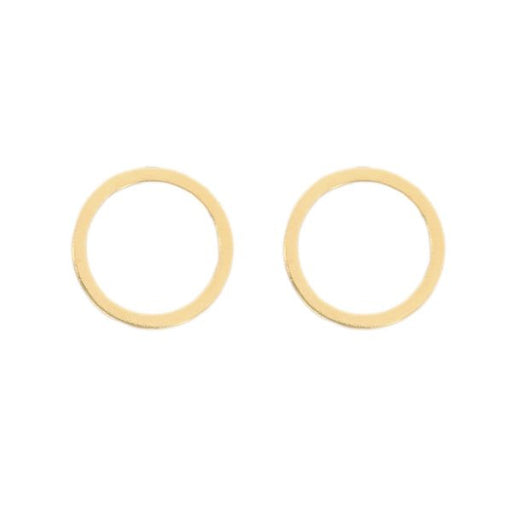 Cat Circle Stud Earring - 14k Gold Vermeil, Thatch - Gingerly Witty