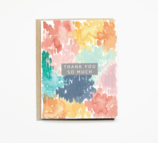 Rainbow Watercolor Thanks So Much Card Gingerly Witty