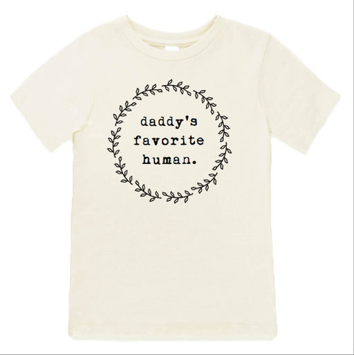 """Daddy's Favorite Human"" Short Sleeve Children's Tee - Cream, Tenth & Pine - Gingerly Witty"