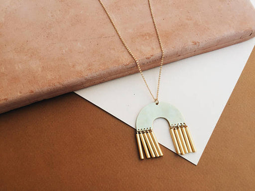 Abode: Long Geometric Necklace - Gold Fill, Genuine & Ginger - Gingerly Witty