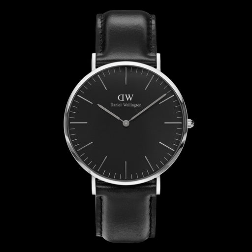 Black Sheffield Watch | 40mm, Daniel Wellington - Gingerly Witty