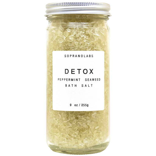 Peppermint Detox Bath Salt, SopranoLabs - Gingerly Witty