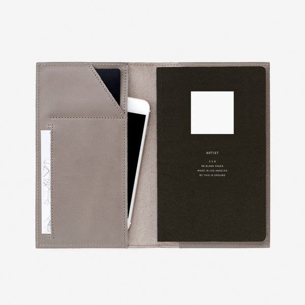 Medium Notebook Holder - French Grey