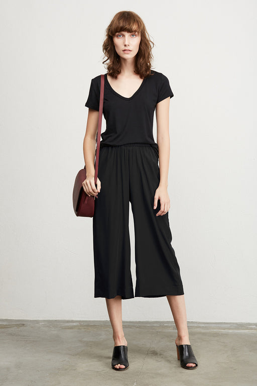 Fleur Silk Culotte - Black, Amour Vert - Gingerly Witty