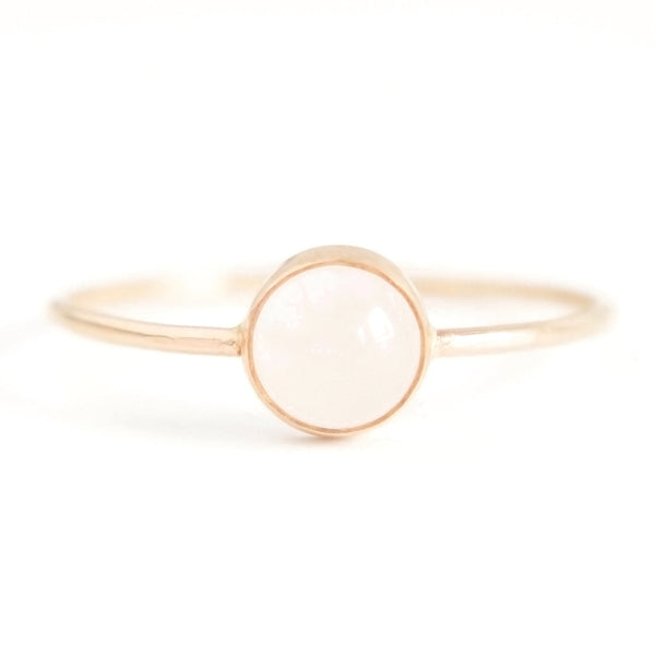 Gumdrop Ring - Rose Quartz Gemstone, Favor - Gingerly Witty