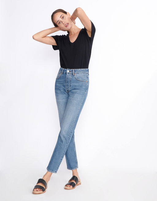 Harlem High Waist Jean - Vintage Denim, Reiko - Gingerly Witty