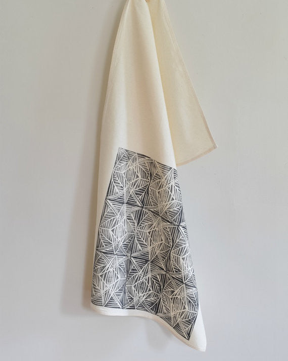 Geometric Pattern Tea Towel, Hearth & Harrow - Gingerly Witty