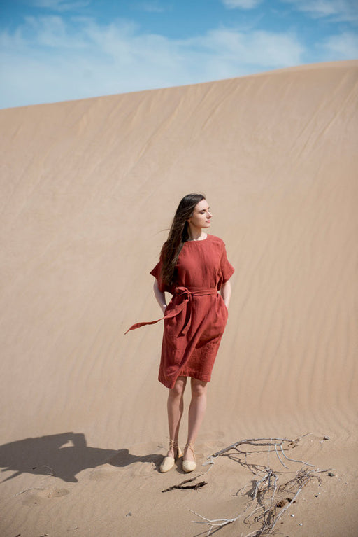 Desert Breeze Dress - Red, Motumo - Gingerly Witty