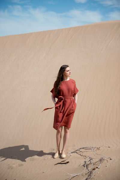 Desert Breeze Dress - Red