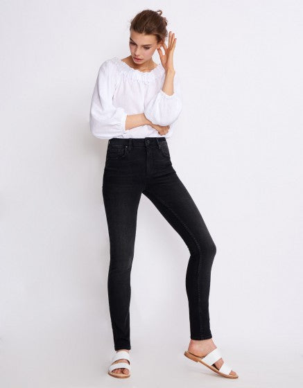 Arnel Skinny High Waist Jean - Black, Reiko - Gingerly Witty