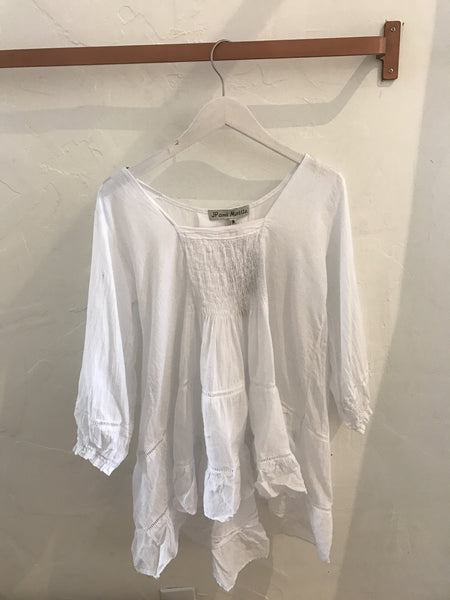 Brunch it Up White Lace Ruffle Tunic - White - Gingerly Witty