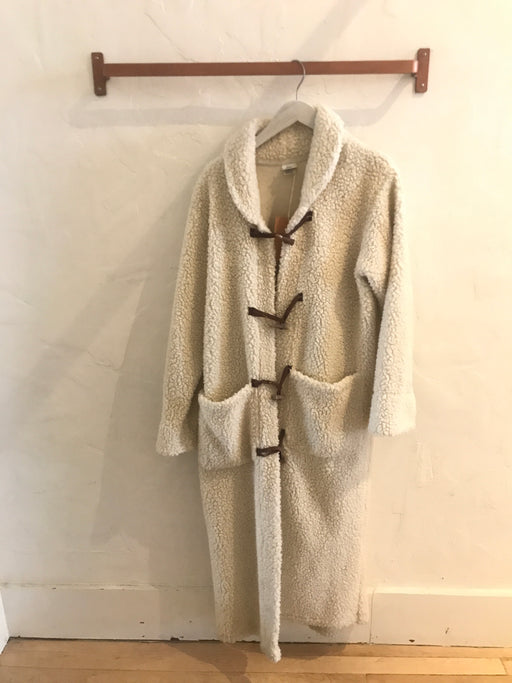 Vintage Toggle Teddy Bear  Coat - Size S