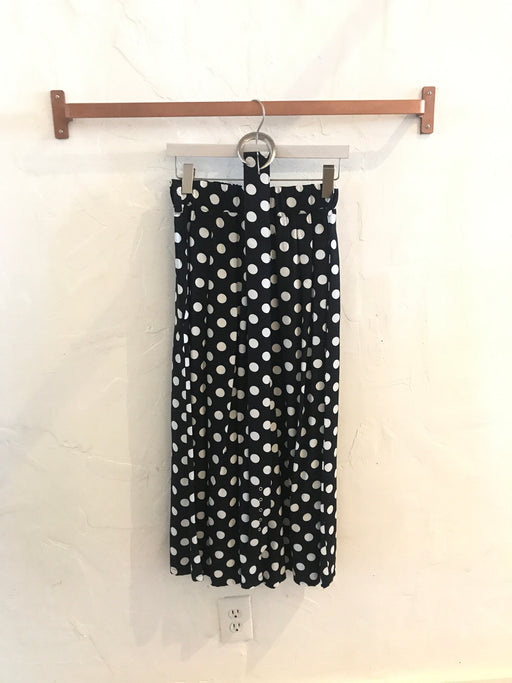 Belted Black & White Polka Dot Pants - Size M, Gingerly Witty - Gingerly Witty