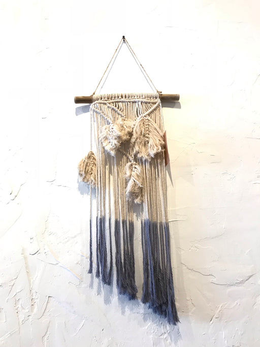 Macrame Feather Wall Hanging - Blue Ombre