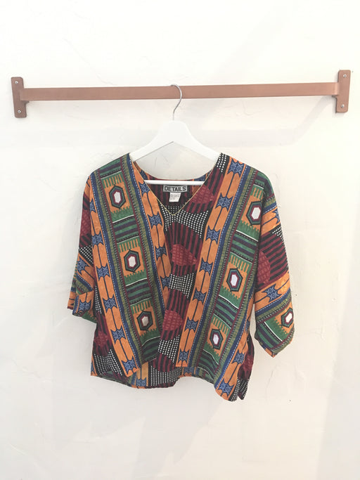 Vintage 80s Pakistani Patterned Top - Free Size, Gingerly Witty - Gingerly Witty
