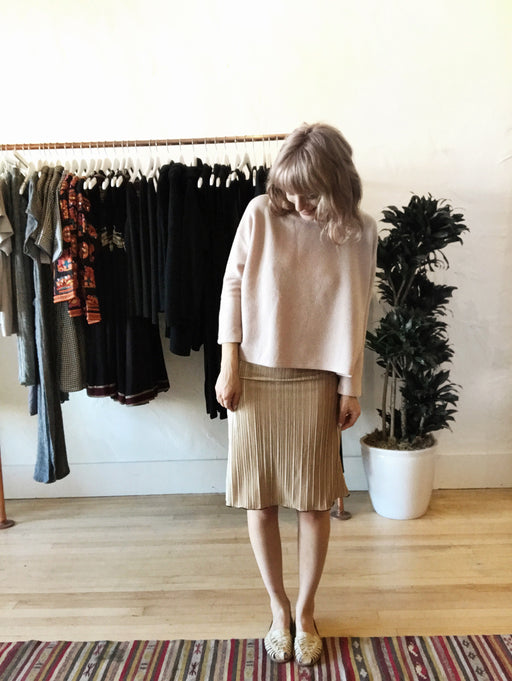 November Oversized Structured Sweater - Very Light Pink