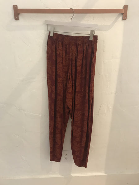 High-Waisted Slouchy Pants - Size S