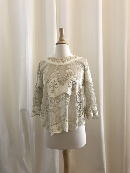 """Tuck Everlasting"" Lace Top - Estimated Size S"