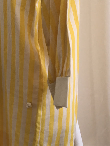 60s Yellow Candy Striper Mini Shift Dress - Size XS, Gingerly Witty - Gingerly Witty