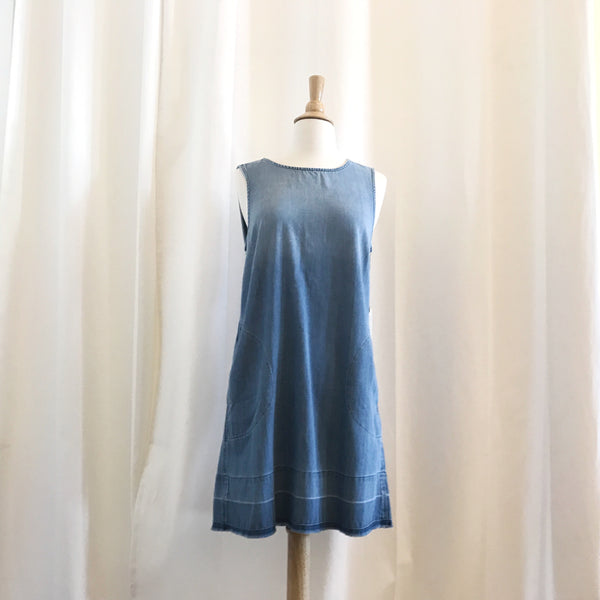 Released Hem A-Line Chambray Dress