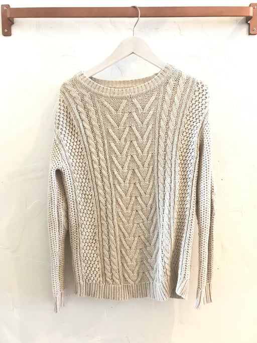 BDG Cable Knit Pullover Sweater - Size XS, Gingerly Witty - Gingerly Witty