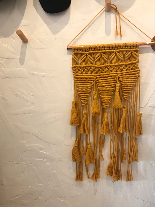 Macrame Wall Hanging with Tassels - Marigold