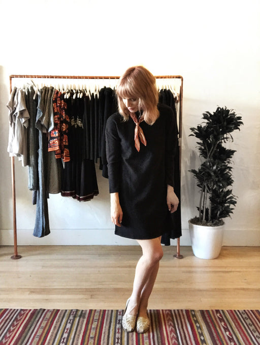Attitude Sweater Dress - Black