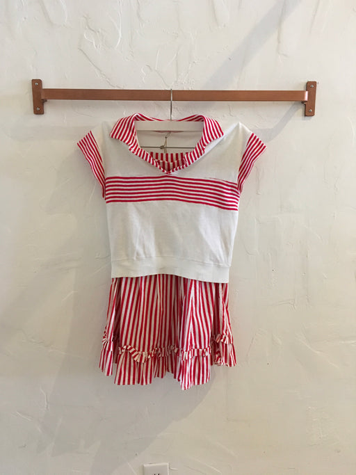 1950s Striped Matching Play Set - Size XS, Gingerly Witty - Gingerly Witty