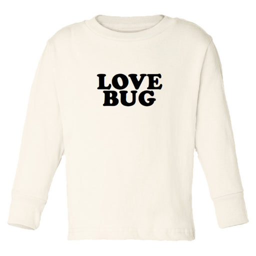 """Love Bug"" Long Sleeve Children's Tee - Cream, Tenth & Pine - Gingerly Witty"