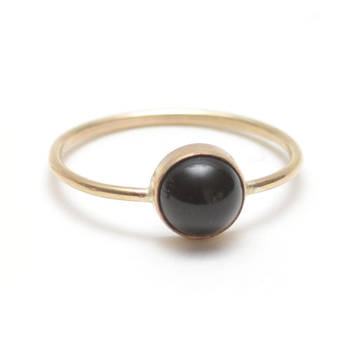 Gumdrop Ring - Black Onyx Gemstone, Favor - Gingerly Witty