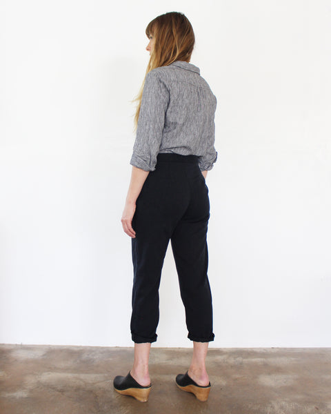 Sam Relaxed Cropped Pant - Gingerly Witty